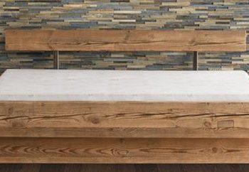 Altholz Bett rustikal