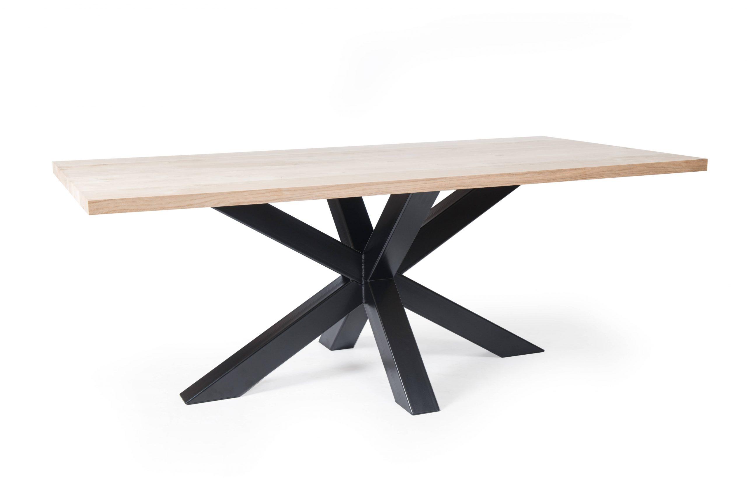 Tischgestell Metall mit Holzplatte